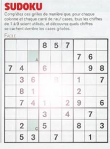 Sudoku perte de la vision centrale